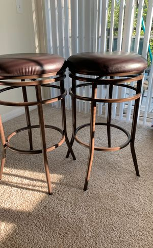 Brown leather bar stools for Sale in Cary, NC