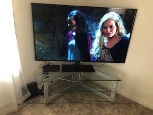 Glass Modern heavy duty TV media stand for Sale in Phoenix, AZ
