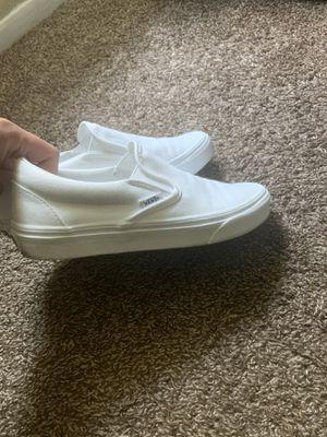 Women's White VANS size 7 for Sale in San Antonio, TX