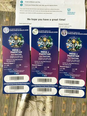 Pakistan vs India cricket match tickets for Sale in Herndon, VA