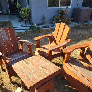 Wooden Patio Set for Sale in Anaheim, CA