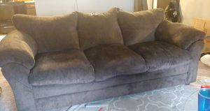 Brown microfiber couch for Sale in Sioux Falls, SD