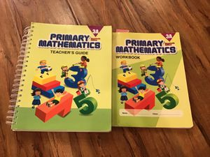 Singapore primary mathematics workbook and teachers guide for Sale in Corona, CA