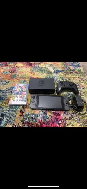 Nintendo Switch V1 with pro controller & Smash Bros for Sale in Miami, FL