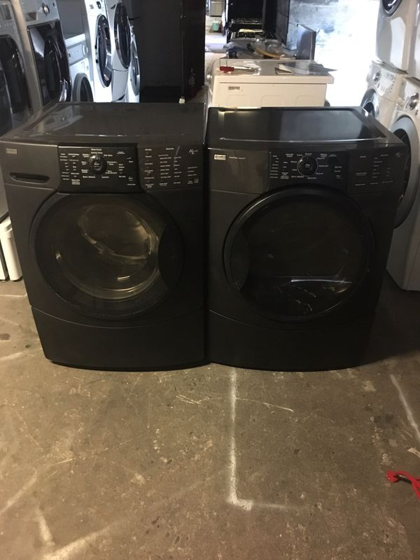 Set washer and dryer brand kenmore gas dryer everything is good working condition 90 days warranty delivery and installation