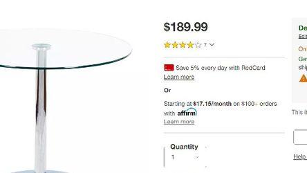 Modern Glass Table - Chrome for Sale in Philadelphia,  PA