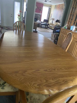 Custom made dining room table & chairs for Sale in Broken Arrow, OK