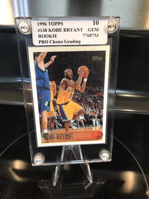 1996 Topps Kobe Bryant ROOKIE Card #138 RC - 10 GEM Graded - Lakers Jersey 8 NBA Collectibles - $99 OBO for Sale in Carlsbad, CA