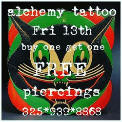 Fri the 13th Buy one get one free on piercings!! for Sale in San Angelo,  TX