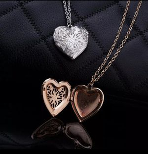 Hollow Heart Pendant Necklace for Women Geometric Charm for Sale in Brooklyn, NY