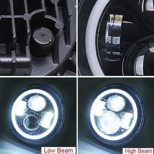 7 inch Jeep Wrangler Led Headlight (Pair)/Halo Rings for Sale in Queens, NY