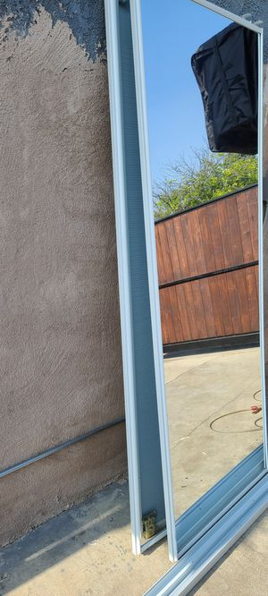 Closet mirror doors with track for Sale in Buena Park, CA