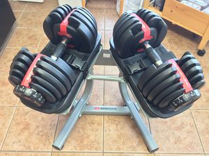 Bowflex Selecttech 552 Dumbells with Rack for Sale in Leesburg, VA