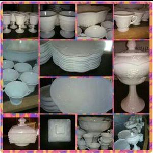 Lots Antique milk glass dishes for Sale in Columbus, OH