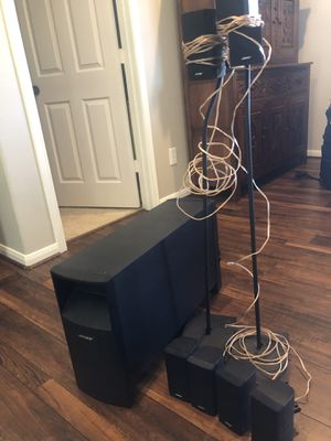 Bose Acoustimass 15 II 6.1 surround sound with stands for Sale in Magnolia, TX