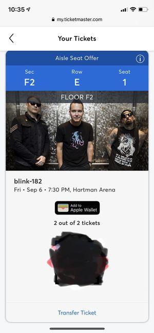 Blink 182 (2 tickets) for Sale in Wichita, KS