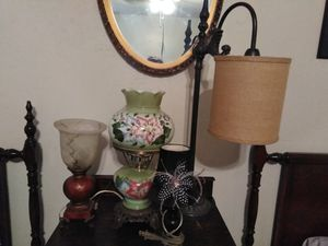 Vintage lamps, rocking chair. All 4 lamps and rocking chair for $45.00 for Sale in Tucson, AZ