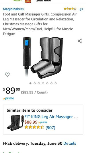 Foot and Calf Massager Gifts, Compression Air Leg Massager for Circulation and Relaxation,Massage Gifts for Men/Women/Mom/Dad,for Muscle Fatigue for Sale in Las Vegas, NV