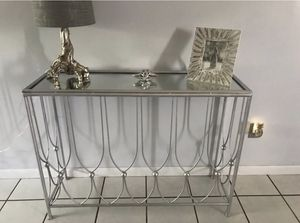 Metal table with mirrored top for Sale in Homestead, FL
