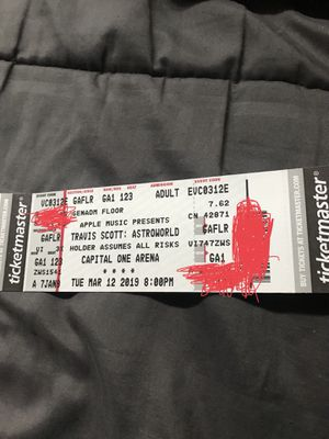 2 DC ASTROWORLD Travis Scott Tickets (Floor Area) for Sale in Washington, DC