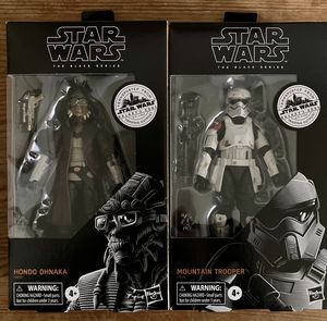 STAR WARS BLACK SERIES HONDO OHNAKA AND MOUNTAIN TROOPER RARE TARGET EXCLUSIVE MINT UNOPENED for Sale in Carson, CA