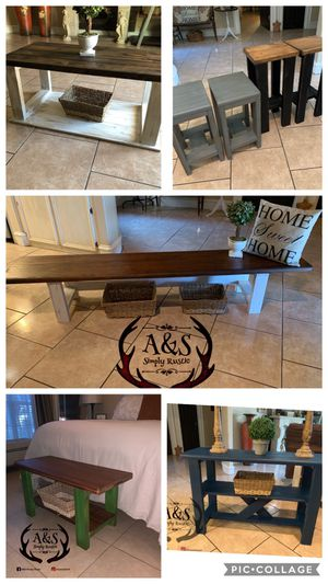 Tables, Benches, Bar Stools, Islands & More!! Prices vary for Sale in McAllen, TX