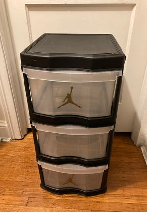 Three drawer clear view organizer drawer unit for Sale in Philadelphia, PA