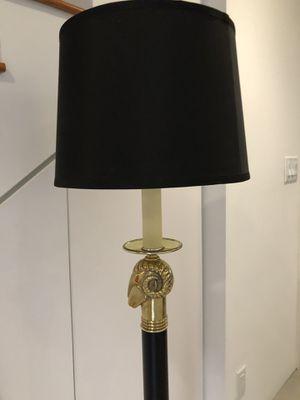 Mid century Brass Ram Head & Black Floor Lamp for Sale in Oakland Park, FL