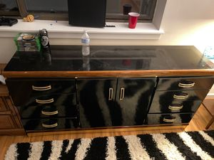 Black dresser for sale! Must pick-up for Sale in Falls Church, VA
