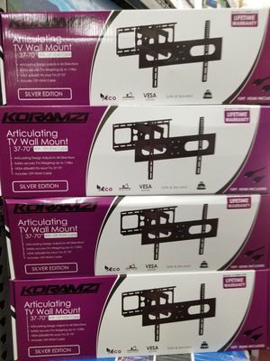 "FULL MOTION WALL MOUNT BRACKETS UP TO 70"" LED TVS. ASK ME FOR WHOLESALE PRICE for Sale in Los Angeles, CA"