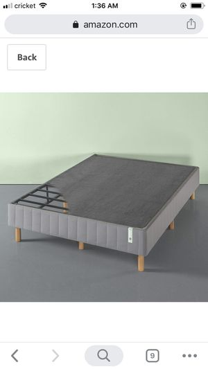 New in box modern smart box spring with legs / platform bed frames queen size and king size for Sale in Columbus, OH