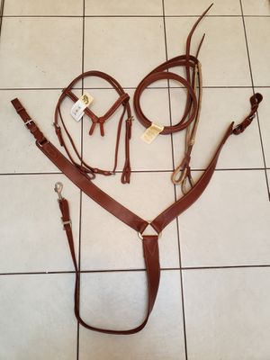 Western horse headstall, reins, breastcollar lot, new for Sale in Chandler, AZ
