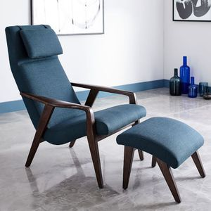 West Elm Midcentury Chair with Ottoman for Sale for sale  New York, NY