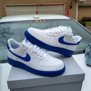 $110 local pick up Size 11 only. Nike Air Force 1 Low 07 Game Royal Worn Once For 2 Hours. for Sale in Norcross, GA