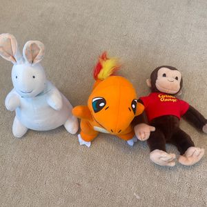 Stuff Animal Pat The Bunny,Curious George, Pokémon for Sale in Milpitas, CA