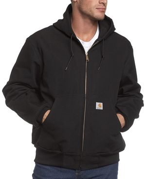 Carhartt 3XL Tall Black New Carhartt Men's Thermal Lined Duck Active Hoodie Jacket for Sale in Las Vegas, NV