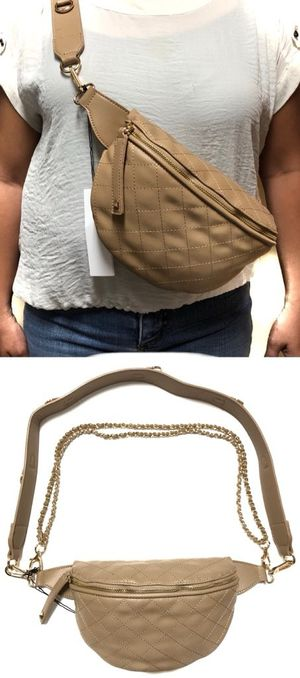 Brand NEW! Tan Shoulder/Crossbody/Waist/Pouch/Fanny Pack For Everyday Use/Traveling/Parties/Gifts $20 for Sale in Carson, CA