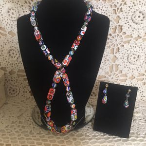 Vintage NWOT Italian glass beaded necklace and earrings for Sale for sale  Freeland, PA