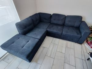 Blue Sleeper Sofa with Chaise for Sale in Miami, FL