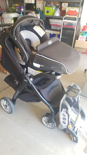 Chicco Bravo stroller and Chicco Keyfit30 Car seat with base for Sale in Temecula, CA