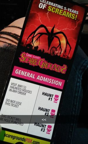 Scaregrounds ticket/admission for Sale in Brush Prairie, WA