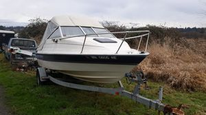1996 18' bayliner capri cubby cabin with apha one mercury 4 cylinder 600hrs on engine for Sale in Everett, WA