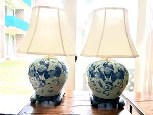 Unique talking piece, hand painted, antique luxury lamps for Sale in Aspen Hill, MD