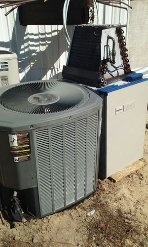 3_1\2 tons heat pump unit end air handler whit coil Freon R22 for Sale in Sanford, NC