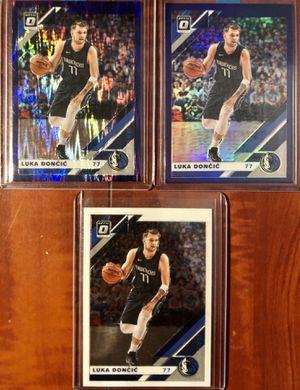 2019-2020 NBA Optic Luka Doncic Purple Shock, Purple Holo, & Base Set for Sale in Anaheim, CA