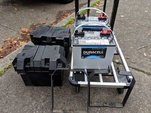 12V Duracell Ultra AGM Battery (2) and Accessories for Sale in Seattle, WA