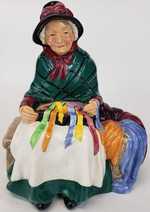 "Vintage Royal Doulton ""Silks & Ribbons"" Old Woman/Lady Porcelain/Ceramic Figurine for Sale in Mesa, AZ"