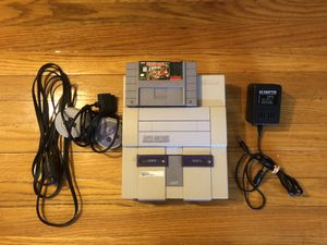 SNES Super Nintendo with donkey Kong country for Sale in Daniels, MD