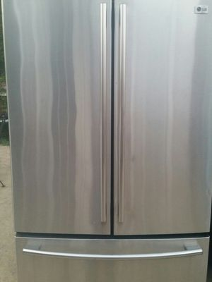 Stainless french door refrigerator 6 months warranty for Sale in Alexandria, VA