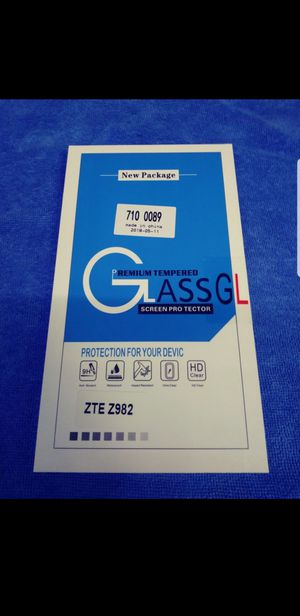 Zte Z982 glass screen protector new still sealed for Sale in Tampa, FL
